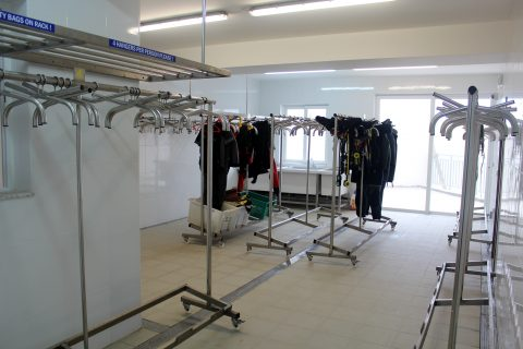 Equipment Washing & Storage Area