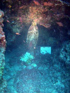Cirkewwa Arch Reef Underwater Statue