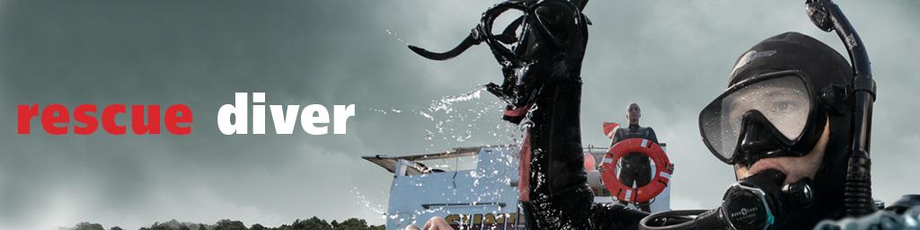 rescue diver banner