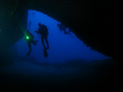Diving cave