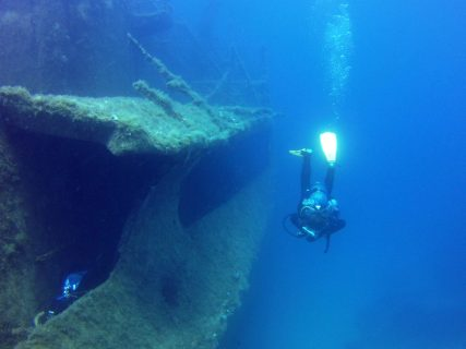 Diving inside Wreck