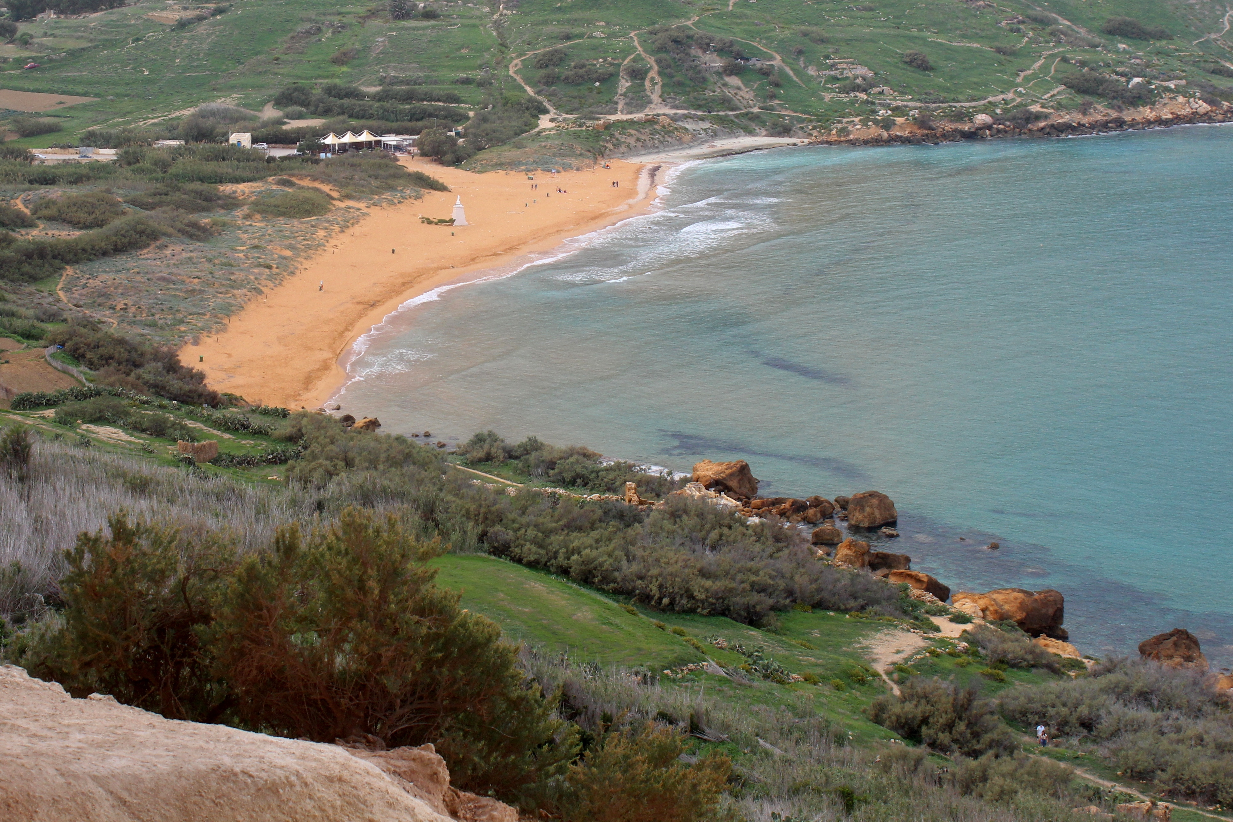 View of Ramla Bay from Tal-Mixta Cave