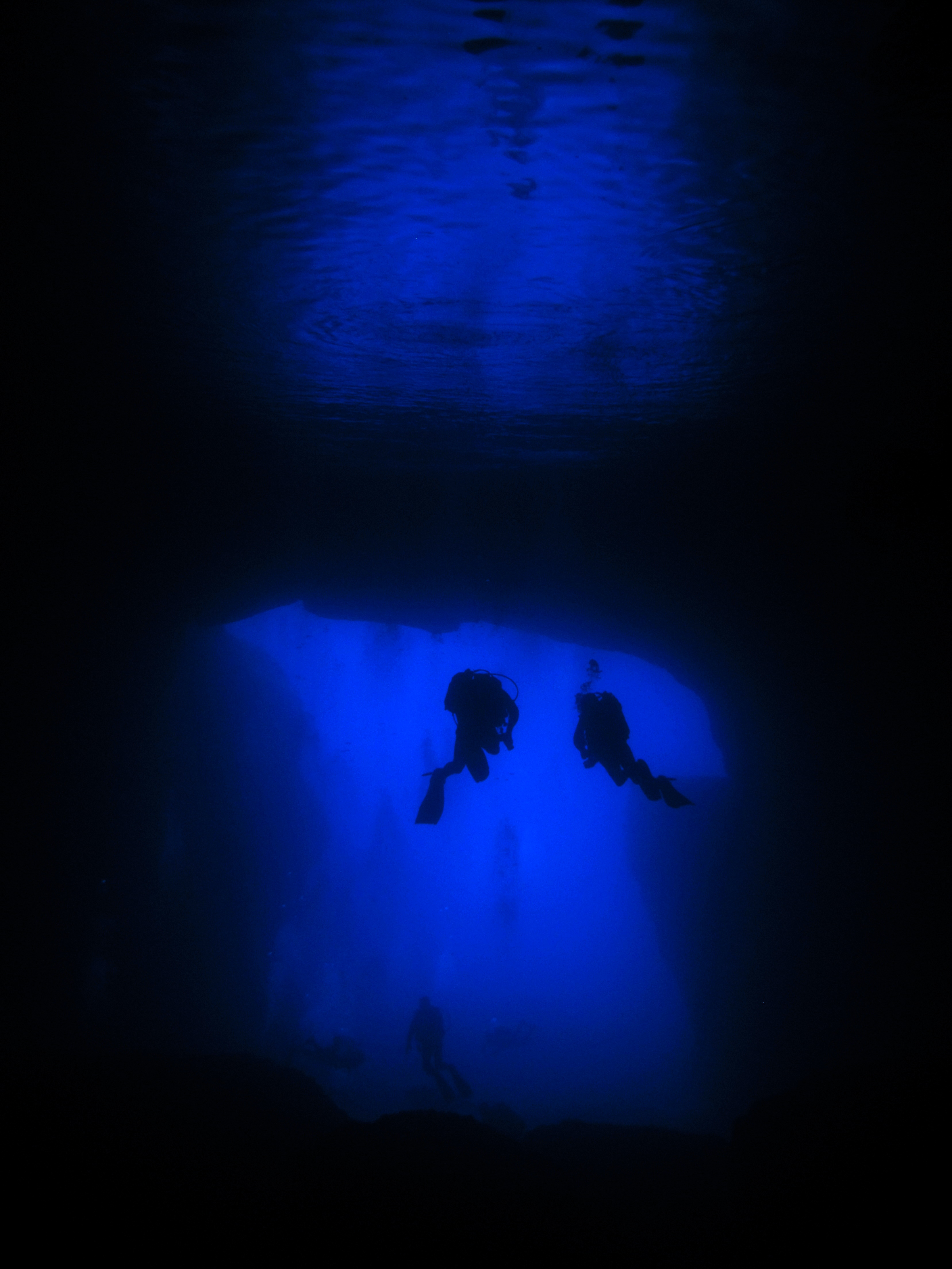 Cathedral Cave underwater view two