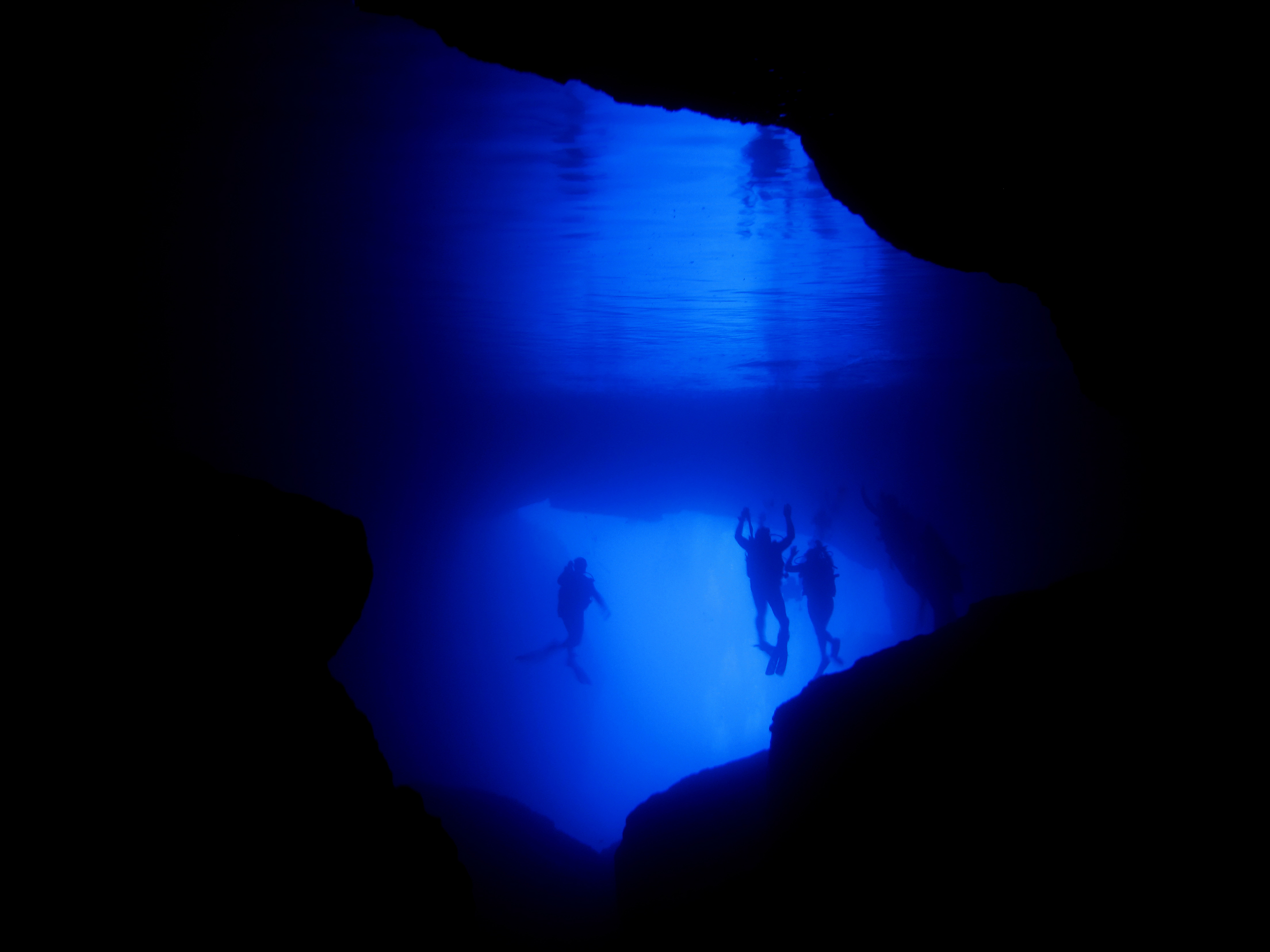 Cathedral Cave underwater view one