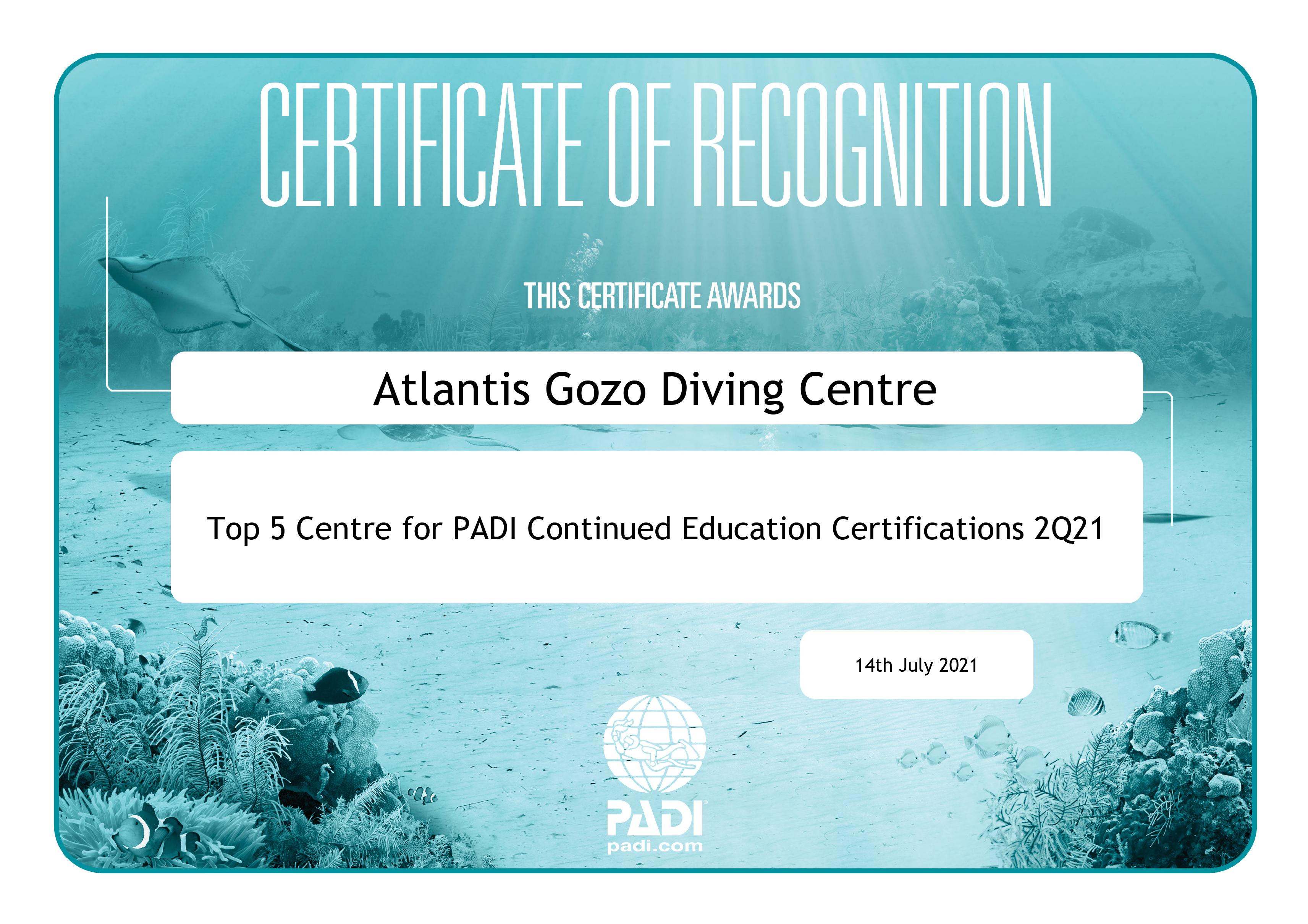 Padi certification